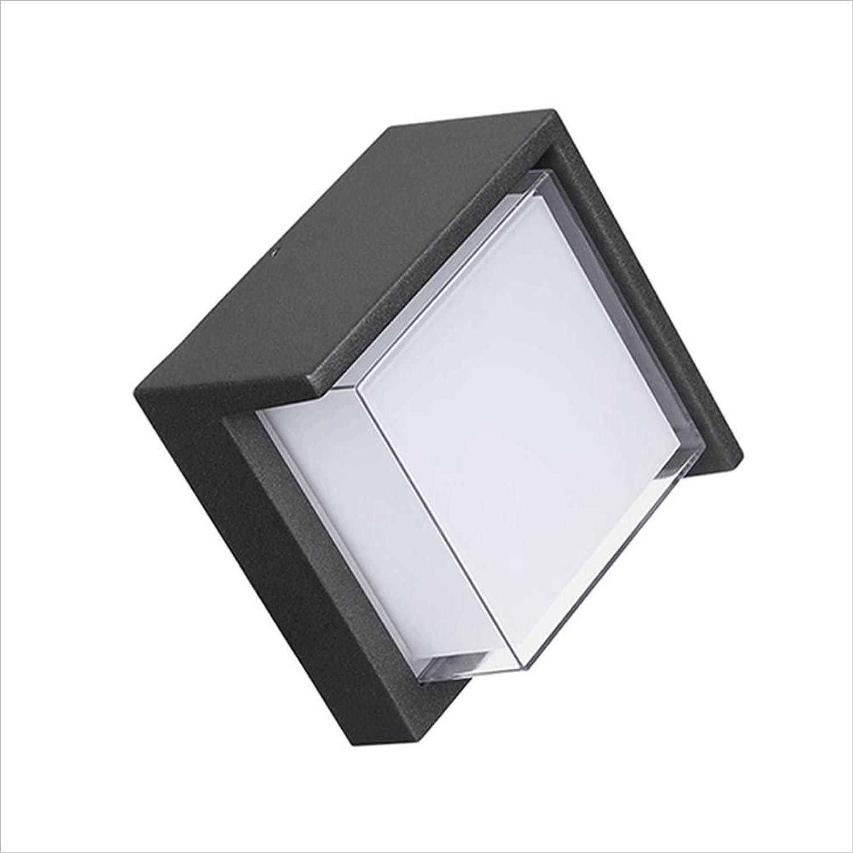 Zmsdt Lámpara De Parojo Ahorro De Energía Al Aire Libre De La Luz del Cuadrado LED blancoa Lámpara De Parojo Simple Moderna De La Habitación del Patio del Hotel (Color   12W Neutral Light)