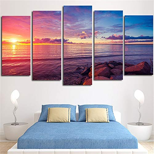 WSNDGWS Home Decoration Sunset, canvas schilderen, woonkamer slaapkamer, kunstschilderen, geen fotolijst 20x35cmx2 20x45cmx2 20x55cmx1 A1.