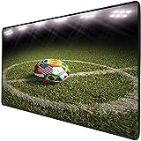 Mouse Pad Gaming Functional Sports Decor Dicke wasserdichte Desktop-Mausmatte Ein Fußball auf einem Fußballplatz Bedruckte Flaggen der teilnehmenden Länder Rutschfeste Gummibasis