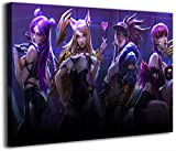League Legends - Lienzo decorativo para pared (45,72 x 60,96 cm), diseño de Kda Kaisa Ahri Akali