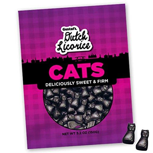 Gustaf's Traditional Dutch Licorice Cats, 5.2 oz Retail Bag