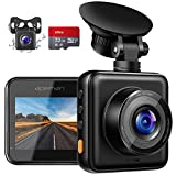 APEMAN Dashcam Vorne und Hinten Autokamera mit MicroSD-Karte, 1080P FHD Mini Dual Lens Kamera, 170 ° Weitwinkel mit Nachtsicht, G-Sensor, Parküberwachung, Loop-Aufnahm und WDR