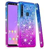 COTDINFOR Samsung Galaxy A9 2018 Funda Líquido Degradado de Color Glitter Sparkle Bling Quicksand...