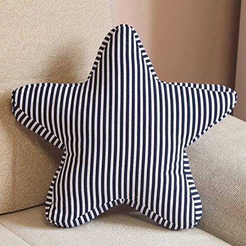 Maat: 45 x 45cm, Pentagram vorm Kussen Bed Rugleuningsteun Sierkussen met Kussen Insert wangweng (Color : Color1)