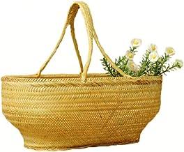 XinQing-Storage basket Storage Basket Portable Bamboo Kitchen Basket Basket Snack Fruit Basket Gift Basket Home Manual 40 ...