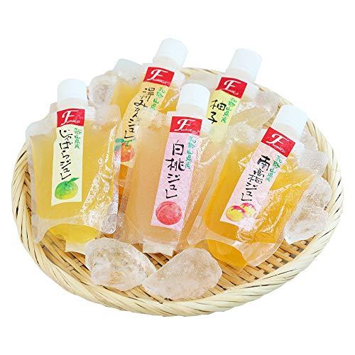 お中元 ギフト 2020 内祝い ご贈答 和歌山果実の飲むジュレゼリー8本セット 温州みかん、白桃、南高梅、じゃばら、柚子の5種類のジュレ