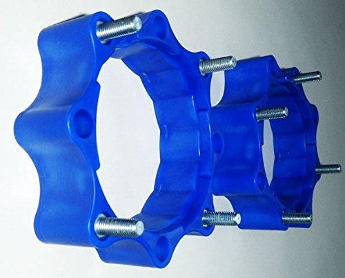 Spurverbreiterungen Quad ATV 110 mm - 115 mm Lochkreis hinten und vorne blau