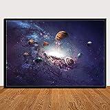 zhuziji Imprimir Arte Planetas Sistema Solar Galaxia Universo Pared Imprime Regalo Lámina - Decoración Moderna del hogar de la habitación 60x90cm(Sin Marco)