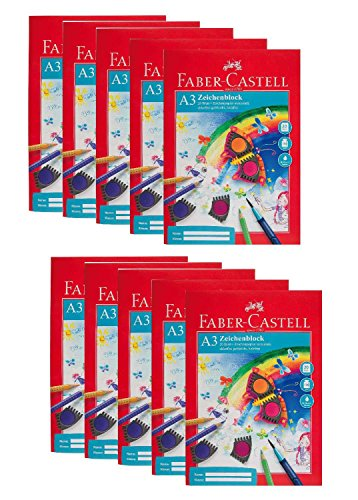 Faber-Castell 212048-10 sketchpad A3, FSC Mix, perforados,