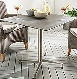 Destiny Tisch Loft Gartentisch 68 x 68 Edelstahl HPL Platte Gastrotisch Esstisch (7654913)