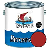 Halvar Betonfarbe/Bodenbeschichtung SEIDENMATT Rot RAL 3000-3031 Fassadenfarbe (1 L, RAL 3002 Karminrot)