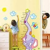 BMWZMY Höhenmessung Wandaufkleber,Cartoon Violet comme Un Papillon sur La Protection De L'Autocollant Mur Étanche Amovible Courbe Muraux pour Chambres d'enfants Nursery Chambre Art Déco