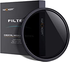 77mm ND Filter,K&F Concept 77mm Ultra Slim ND2-ND400 Fader Variable Neutral Density Adjustable Lens Filter Ultra Slim ND Filter Optical Glass