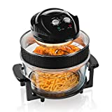 Tower T14001 Health Halogen Low Fat Air Fryer with Removable Glass Bowl, Extender Ring, Recipe Book,...