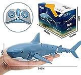 RC Shark Boat Toy 2.4G Simulation Télécommande Shark Bateau for Piscine, Drôle Jouets De Bain, Les Meilleurs Cadeaux for Les Enfants