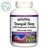 Natural Factors - Stress-Relax Tranquil Sleep, 5-HTP, Suntheanine & Melatonin, 120 Chewable Tablets (FFP)