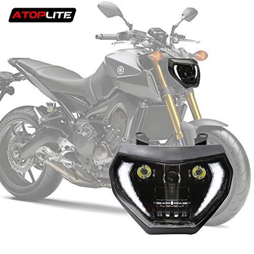 Atoplite Original Designed LED Headlight Fit for Motocycle YAMAHA Fit for Motocycle YAMAHA MT07 / FZ07 2018-UP & MT09 / FZ09