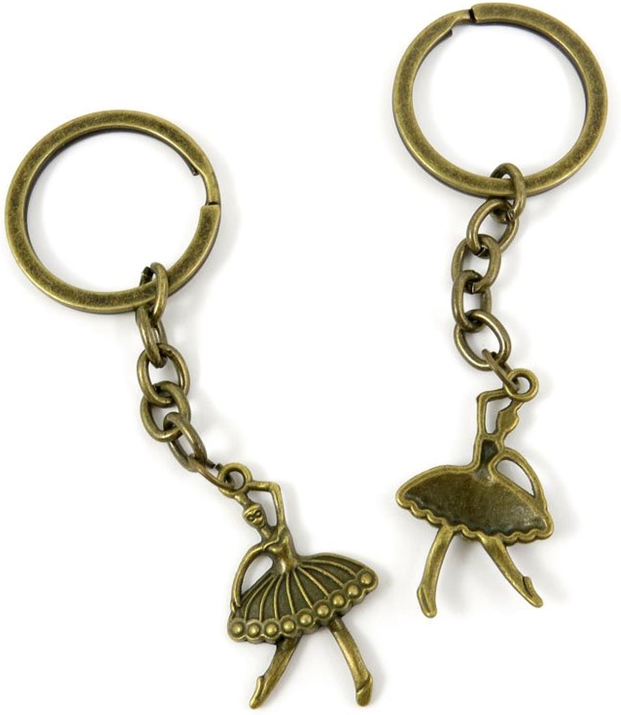 80 PCS Keyring Car Door Key Ring Tag Chain Keychain Wholesale Suppliers Charms Handmade T2KA3 Ballet Dancer