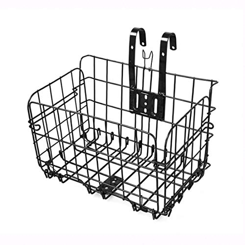 Altruism Bike Baskets for Folding Bikes and Some Mountain Bikes Basket Installation on Front Handlebar & Rear Seat (Black)