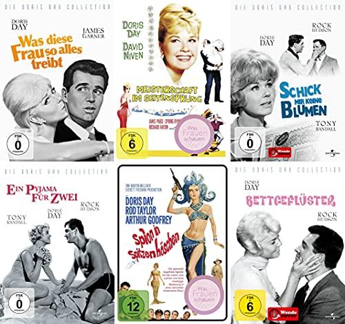 Doris Day Collection: Was diese Frau solles treibt + Bettgeflüster + Ein Pyjama für Zwei + Schick mir keine Blumen + Meisterschaft im Seitensprung + Spion in Spitzenhöschen [6er DVD-Set]