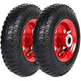 AR-PRO 2-Pack 2.80/2.50-4' Tire and Wheel Set - Universal Replacement Utility Equipment Tire and Wheel Assembly with 3' Centered Hub, and 3/4' Ball Bearings