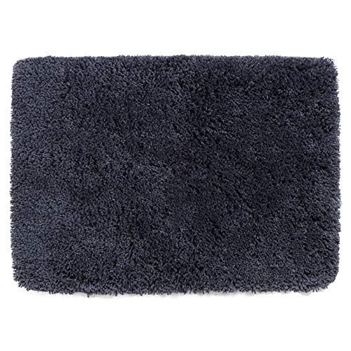 Shaggy Bathroom Rugs Runner,HAOCOO Bathroom Floor Mats Carpet Non-Slip,Water Absorbent, Machine-Washable, Soft Thick Plush Bath Rug for Doormats Tub Shower (17x24 inch, Dark Grey)