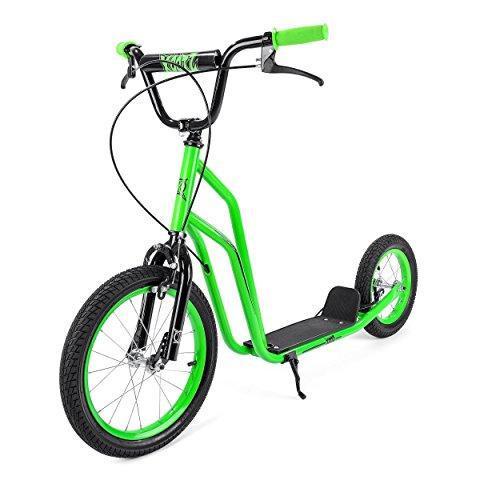 Xootz BMX Trottinette pour Enfants, idéal pour débutant et intermédiaire Riders–Vert