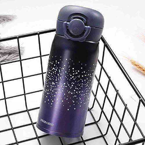 LZBDKM Thermosbecher350ML Hochwertige Isolierflaschen Thermosbecher Stern Wärmeisolierung Thomoses Becher Tragbare Outdoor-Saugerflaschen