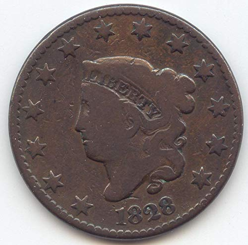 1828 Coronet Head Large Date Large Cent Very Good