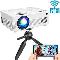 QKK Full HD 1080p 4500-Lumens DLP Portable Projector