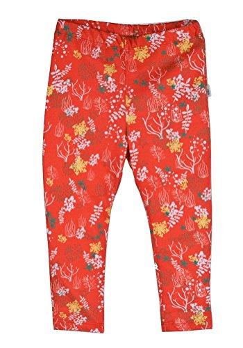 Meisjes leggings oranje met patroon Bio (62/68)