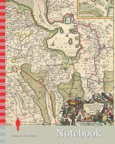 Notebook: Map, Dominii Groningae nec non maximae partis Drentiae novissima delineatio, Nicolaes Jansz. Visscher (1649-1702), Copperplate print