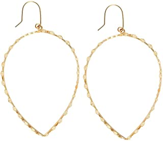 Lana Small Glam Pear Shaped Hoops