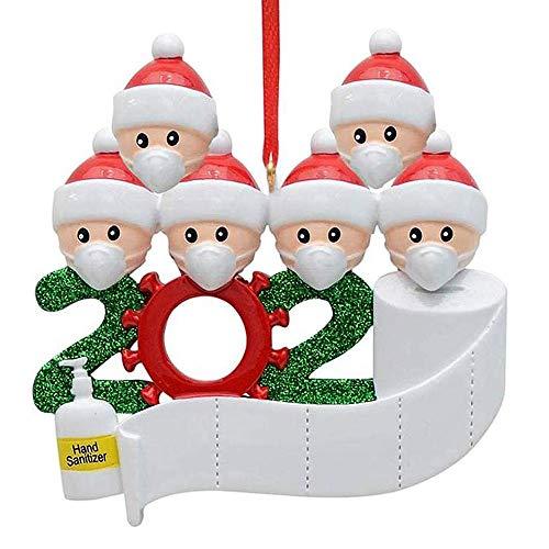 WELLXUNK® Adornos Navidad Colgantes Muñeco Familia Sobrevivido Adornos de árbol de Navidad 2020 Adornos de Adorno de Navidad, Accesorios de casa, Adornos navideños Decoraciones (M5)