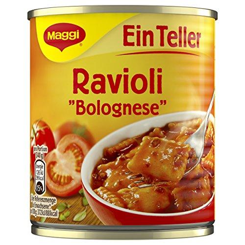 Maggi Ein Teller Ravioli Bolognese, 340g