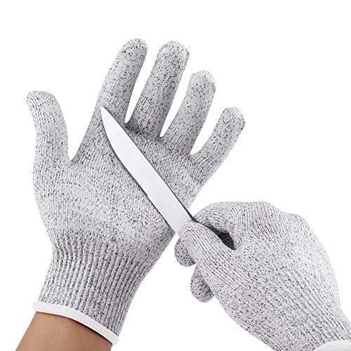 Akozon Cut Resistant Handschuhe, Schutz Cut-resistant Elastic Stabresistente Küche Gardening Butcher Safety Gloves(10XXL)