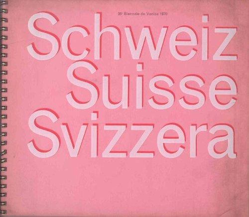 35 Biennale de Venise 1970. Schweiz Suisse Svizzera