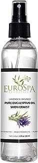 EuroSpa Aromatics Pure Eucalyptus Oil ShowerMist and Steam Room Spray, All-Natural Premium Aromatherapy Essential Oils - Lavender Infused, 8oz