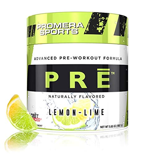 Promera Sports PRE Advanced Pre-Workout Formula, Naturally Flavored, Smooth Energy Boost with No Sugar, No Jitters or Post-Workout Crash, Lemon Lime, 20 Servings, 5.65 Ounces