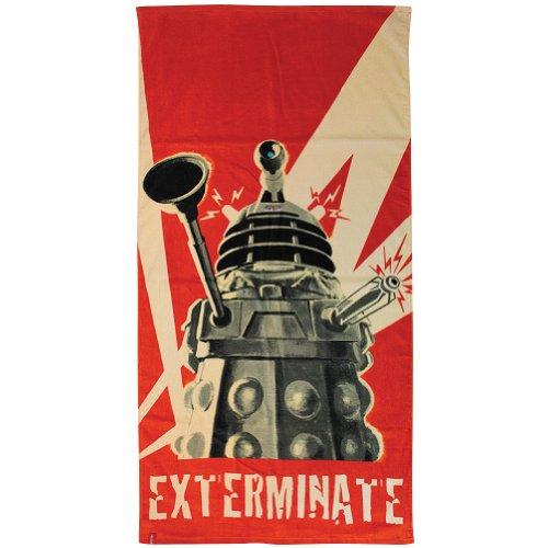Toalla Doctor Who Dalek Dr Exterminate Algodón