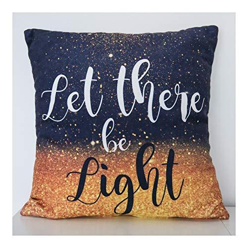 Little Cushion - Let There Be Light Christelijk kussen 40x40cm met sierkussen met vulling sierkussen goud