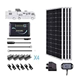 Renogy 400 Watts 12 Volts Monocrystalline Solar RV Kit Off-Grid Kit with Adventurer 30A PWM LCD Charge Controller+ Mounting...