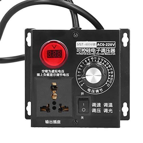 Regulador de Voltaje AC AC 110 / 120V, Controlador de Tiristor Electrónico de Alta Potencia de 4000W, Controlador de Voltaje para Controlar la Fuente de Alimentación(US Plug)