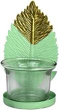 NXYCXXJS Leaf Wrought Iron Light Candle Holder Candle Holder Lantern Handicraft Interior Decoration (Color : G)