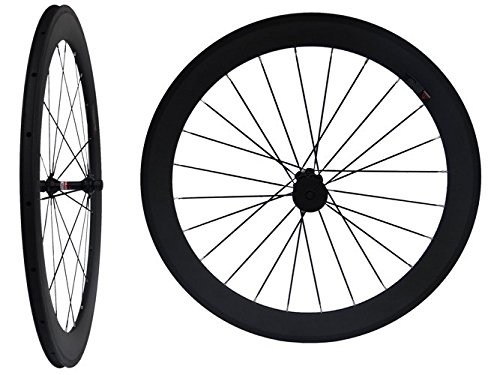 Flyxii Carbon Matt Road Bike Clincher Wheelset 60mm Bicycle Wheel Rim