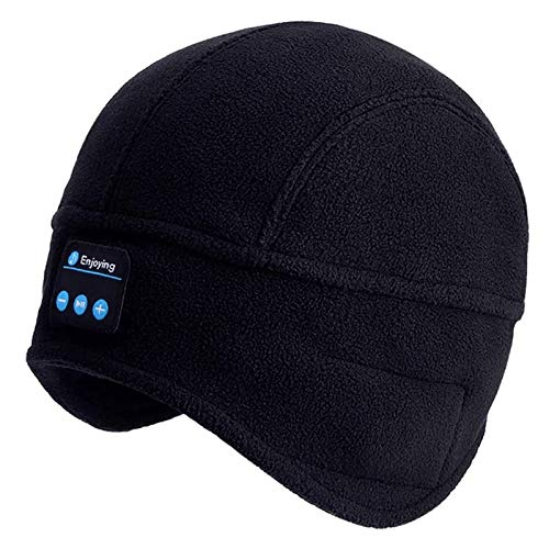 Bluetooth Beanie, Mens Gifts, Bluetooth Music Cap, Bluetooth Beanie Hat with Stocking Stuffers Stereo Mic, Fit for Outdoor Sports, Washable-Gifts-for-Men-Women-Christmas-Thanksgiving-Day Birthday