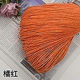 CHUYU Crochet de Hilo de Paja de Rafia para Tejer DIY Sombrero de Paja de Verano Bolsos de Mano Cojines cestas Hilo de Material 500 g/Lote, Naranja