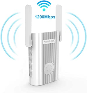 Updated Version 1200Mbps WiFi Extender Plug in Wall, WAVLINK AC1200 Dual Band 2.4 + 5Ghz WiFi Range Extender Wi-Fi Repeater Wireless Signal Booster/Access Point AP with Ethernet Port for Gaming