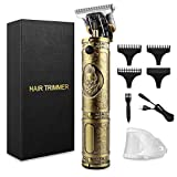Hair Clippers for Men, Beard Trimmer Cordless Rechargeable Grooming Hair Cutting Kits Zero Gaped T-Blade Shaver with 3 Guide Combs Cutting Kits for Family Use Home Daily Use Barbers