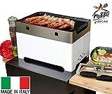 Lincar Barbecue A Pellet Portatile SALVASPAZIO Ecologico A Lunga Durata Made in Italy My BBQ (Rosso)